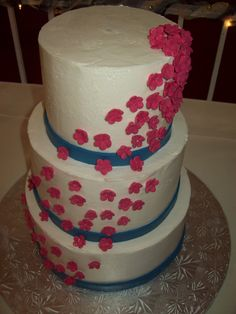 royal blue and hot pink wedding cakes 1000 images about wedding color combo ideas on 19350