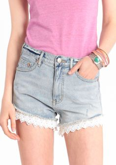 Lacey Denim Cutoff Shorts By Free People