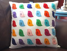 bird pillow...it seems like these pieces would be fairly simple to make yourself instead of having to buy them