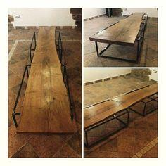 #design #table #tavolo #tronco #minimal #legno #fabbro #falegname #italia #mediterraneo #bibliofilo #archiattack