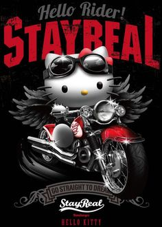 Hello Rider :: From the Hello Kitty Collection at Stay Real stores in Hong Kong Sanrio Hello Kitty, Pink Hello Kitty, Hello Kitty Birthday, Hello Kitty Backgrounds, Hello Kitty Wallpaper, Sailor Scouts, Images Disney, Hello Kitty Imagenes, Backgrounds