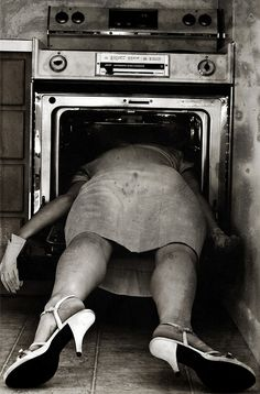 Sylvia Plath was found like this on the morning of 11 February 1963, dead of carbon monoxide poisoning in the kitchen with her head in the oven. She had sealed the rooms between herself and her sleeping children with wet towels and cloths. Plath then placed her head in the oven with the gas turned on.