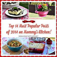 Mommy's Kitchen - Country Cooking & Family Friendly Recipes: Top 14 Posts & Recipes of 2014 from Mommy's Kitchen!