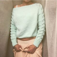 Стильный пуловер. Французский реглан. Вязание спицами