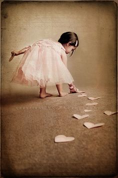 leaving a trail of hearts...