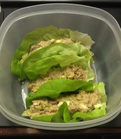 Used mostly avocado and only a little lite mayo, onions, relish, boiled egg, wrapped up in some Boston lettuce Lunch Snacks, Healthy Snacks, Healthy Eating, Lunches, Low Carb Recipes, Cooking Recipes, Healthy Recipes, Good Food, Yummy Food