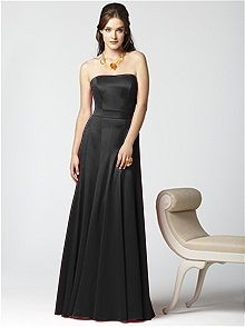 Dessy Collection Style 2855 #black #bridesmaid #dress