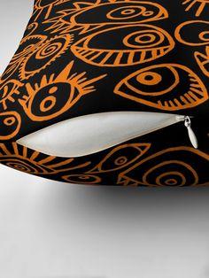 Spooky Eyes, Designer Throw Pillows, Pillow Design, Sell Your Art, Original Art, Cushions, Color, Throw Pillows, Toss Pillows