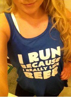 I Run Because I Really Like Beer Tank Top - Running Shirt Funny - Running Tank Top For Women - Beer Run Shirt - Constantly Varied Gear