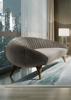 Jal Mahal by Alma de Luce is made with passion by the hands of the Portuguese craftsmans. Home Decor Furniture, Sofa Furniture, Luxury Furniture, Furniture Design, Wooden Sofa Designs, Living Room Sofa Design, Curved Sofa, Luxury Sofa, Furniture Inspiration