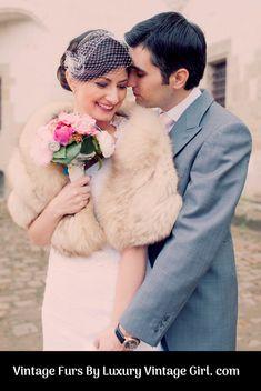 Vintage Bridal Fur Shop and Old Hollywood Glamour Fur Winter Wedding Fur, Winter Wonderland Wedding, Fall Wedding, Rustic Wedding, Gatsby Wedding, Winter Weddings, Christmas Wedding, Vintage Fur, Vintage Bridal