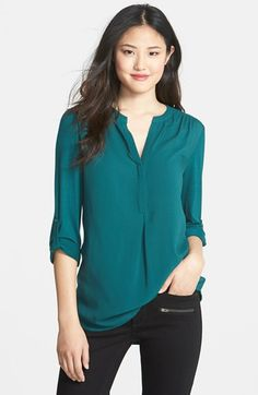 Pleione Mixed Media Tunic - in teal, navy, and black would work best with my wardrobe, but I should also consider white as a buttondown alternative. Won't pass business-formal standards, but works for my business-casual office.