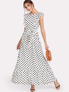 Ruffle Trim Polka Dot Textured Dress #ad #polkadots #newarrivals #summeroutfit #spring #summervibes #summerstyle #styleinspiration #musthave #ootd #wishlist