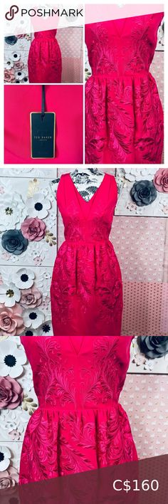 Check out this listing I just found on Poshmark: Ted Baker dark pink dress. #shopmycloset #poshmark #shopping #style #pinitforlater #Ted Baker #Dresses & Skirts