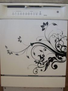 kitchen appliance decals | Dishwasher Appliance - Vinyl Decal Wall Decal Kitchen Room Decor