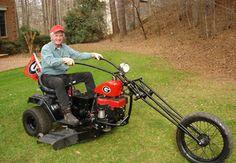 redneck mower - chopper style...lol