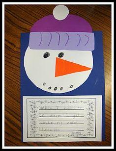 Sneezy the Snowman. Cute! Good winter bulletin board!