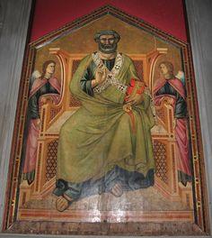 Maestro della Santa Cecilia - San Pietro in cattedra - 1307 - Chiesa dei Santi Simone e Giuda, Firenze