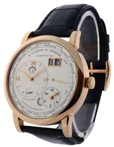 A. Lange & Sohne Lange 1 Timezone 116.032 18K Rose Gold and Leather 42mm Watch