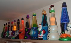 Cool Perspective Shot of a Collector's Icon Series Lava Lamp Collection Glitter Lamp, Room Decor Bedroom, Dorm Room, Bedroom Ideas, Holidays And Events, Lava Lamps, Table Lamp, Cool Stuff, Peace Signs