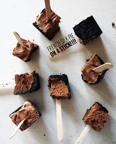 French Silk Pie on a Stick // take a megabite