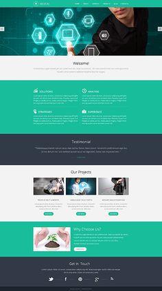 Template 48477 - Business  Responsive Website Template