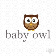Cute Logo Baby Owl - #logo #sale #animal #owl