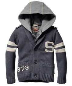 hooded college sweater