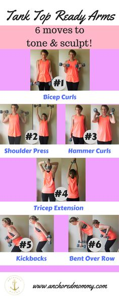 Tank Top Ready Arms Workout + Senita Athletics Review - Anchored Mommy