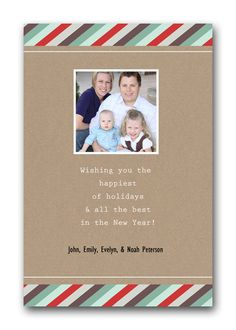 Exclusive Christmas Happiest Holidays & New Year Memory Lab photo card