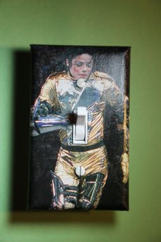 Michael Jackson King of Pop Light Switch Plate Cover girls child kids teen music room home decor bedroom pop star Micheal by ComicRecycled on Etsy