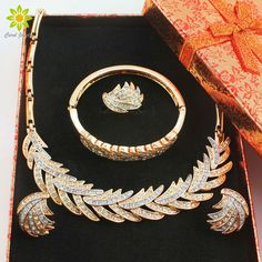 Find More Jewelry Sets Information about African Beads Jewelry Sets Women Wedding Gold Plated Crystal Necklace Set Party Fashion Bridal Ring Bracelet Earring +Gift Boxes,High Quality jewelry box velvet,China jewelry cord Suppliers, Cheap jewelry box dividers from Carol Jewelry on Aliexpress.com