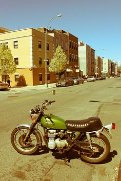 Beautiful old Honda I saw in Brooklyn, by GlennHansen, via Flickr