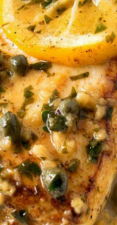 Pan Seared Halibut with Lemon Caper Sauce *If your fish market did not skin the halibut, see the Notes section below for instructions on how to skin the filet. - Pan Seared Halibut with Lemon Caper Sauce Salmon Recipes, Seafood Recipes, Chicken Recipes, Cooking Recipes, Healthy Recipes, Pan Seared Halibut Recipes, Best Halibut Recipes, Cooking Fish, Sauce For Halibut Recipe