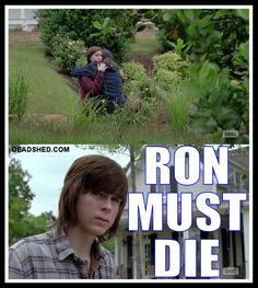 The_Walking_Dead_Season_6_Meme_Carl_Enid_Ron_Must_Die_6x02_DeadShed.jpg 760×848 pixels