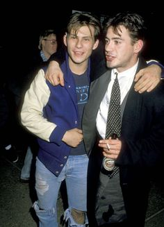 Christian Slater and Robert Downey Jr., 1988