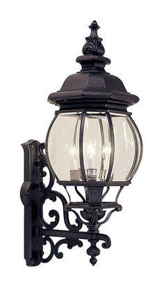 Livex Lighting 7701-04 Frontenac Outdoor Wall Lantern in Black