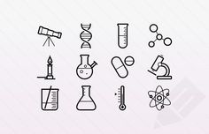 biology tattoo Science icons by Medialoot ! These outlined stroke icons are for physics, chemistry and astronomy. Im trying really hard to avoid using science puns, so let me just share the link before I say anything silly Biology Tattoo, Chemistry Tattoo, Science Tattoos, Dna Tattoo, Science Chemistry, Redwood Tattoo, Science Puns, Science Doodles, Minimalist Tattoo Meaning