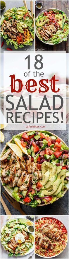 18 Best Salad Recipes | http://cafedelites.com