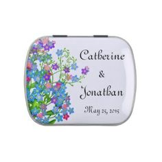 Bridal shower floral mint tin, #bridalshower #mints #favor