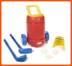 Little Tikes Totsports Easy Hit Golf Set. Play putt-putt golf in your backyard. Role-play activity helps develop motor skills and coordination. Set includes all surface putting hole. clubs and balls. Cart holds putter and driver. Kids Golf Set, Kids Golf Clubs, Sports Games For Kids, Sports Toys, Toys For Little Kids, Toys For Boys, Kids Toys, Big Kids, Putt Putt Golf