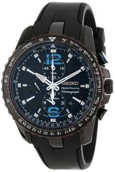 Seiko men watches: Seiko Men's SNAF25 Sportura Aviator Chronograph Japanese Quartz Watch