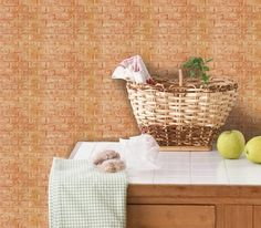 Luxury 3D Brick Wall Textured Foam Wallpaper, 71x78cm Large 5 Sheets Red Brown #INDESIGN