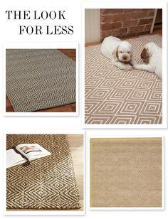 diamond sisal rugs for less. good bones, great pieces.