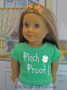 St. Patricks Day ready with Tshirt & capri pants ensemble by LilChicDollFashions, $20.00