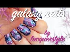 Galaxy Nails Nail Art Tutorial!   Lacquerstyle - YouTube