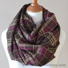 Sew a 15 Minute Infinity Scarf in 3 More Ways: Striped Sweater Knit, Woven Plaid & Lace Overlay