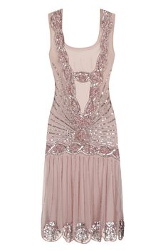 Zelda Flapper Dress Blush - Wedding - Dresses - Clothing £135 Frock and Frill line