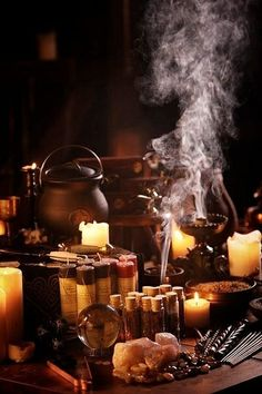 A Witch's Samhain Altar                                                                                                                                                                                 Plus