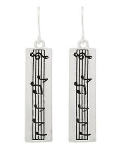 "New  Fashion Music Scale Dangle Style Silver Tone Pierced Earrings NOT FOR CHILDREN UNDER 12 With No Tags Type: Fish Hook Size: Approximately 1.5"" Long Condition: New Never Worn Free Delivery No International Shipping"